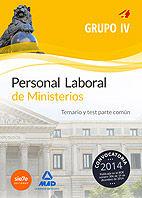 Personal laboral de ministerios grupo iv. temario y test par