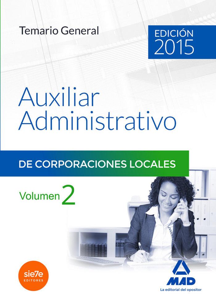 Auxiliares administrativos de corporaciones locales. temario