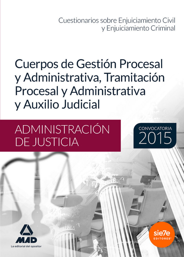 Cuestionario sobre enjuiciamiento civil y criminal