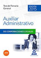 Auxiliares administrativos de corporaciones locales. test de
