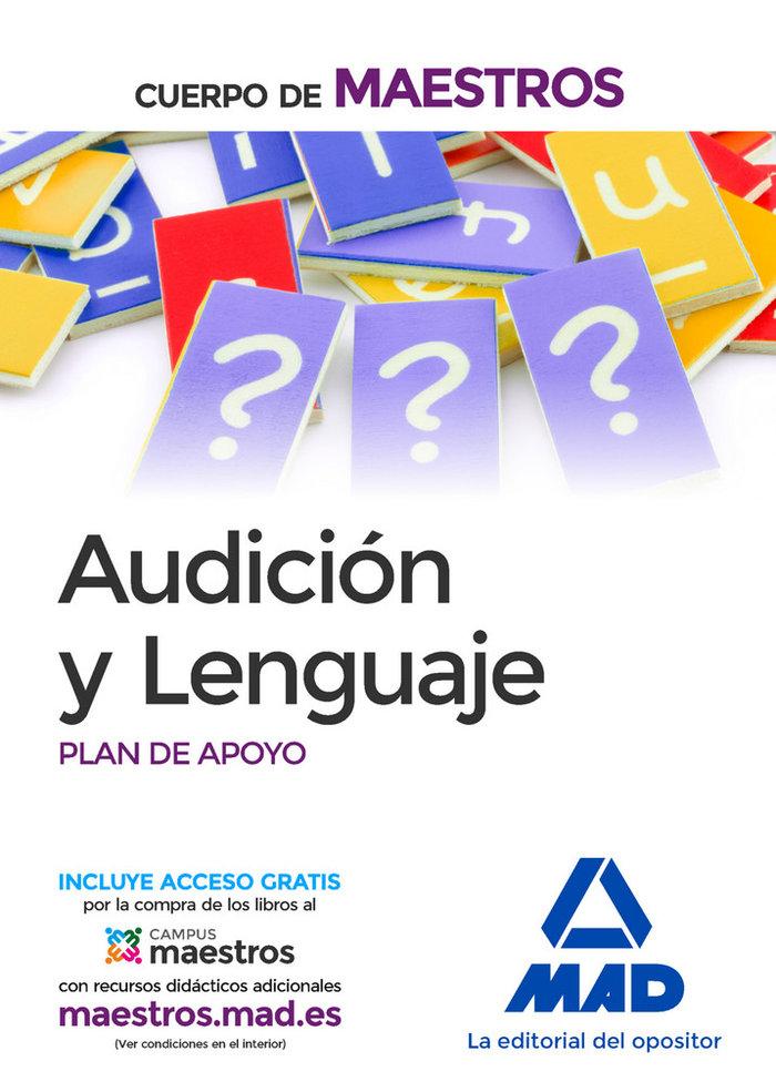 Audicion y lenguaje cuerpo de maestros plan de apoyo ne