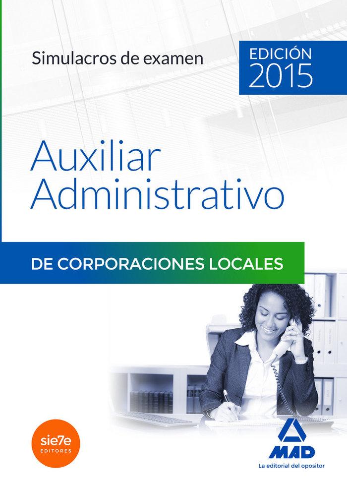 Aux administrativo corporac.locales simulacros examen 2015