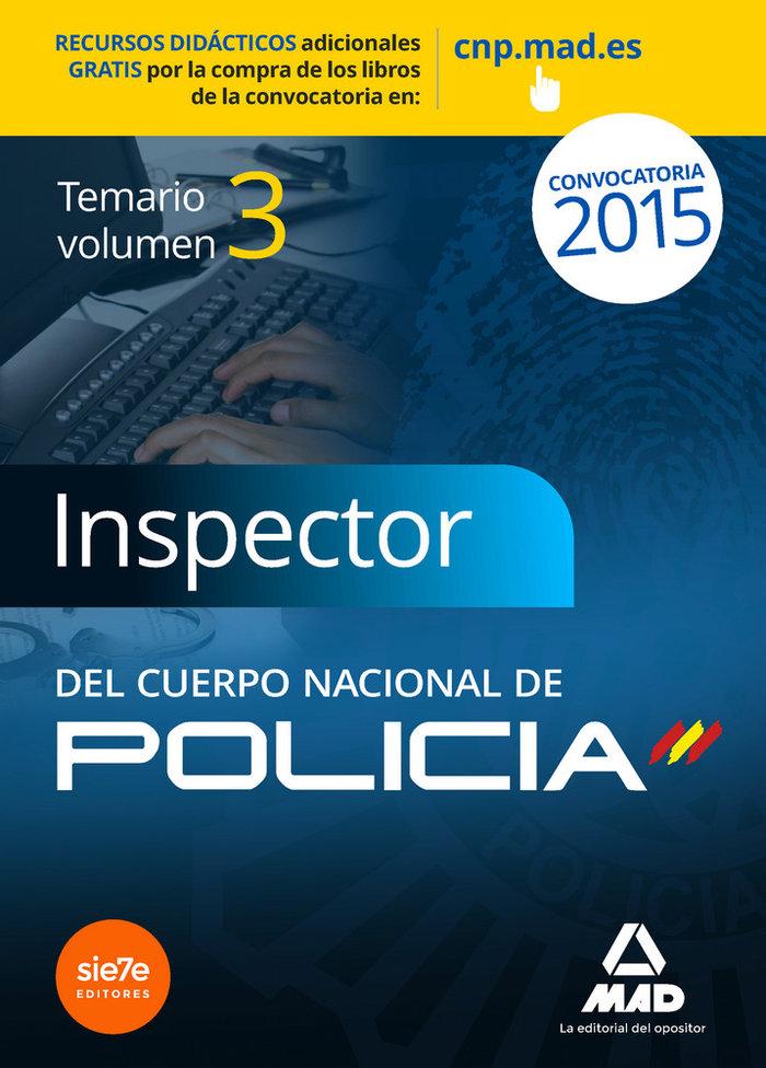 Inspector del cuerpo nacional de policia 3 temario