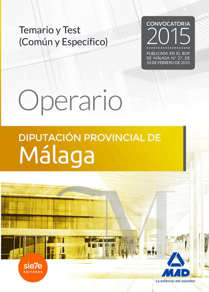 Operario diputacion provincial de malaga temario y test