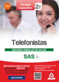 Telefonistas servicio andaluz salud temario especifico 2
