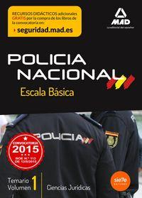 Escala basica de policia nacional temario 1 ciencias juridi