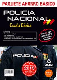 Escala basica policia nacional 2015 paquete ahorro basico