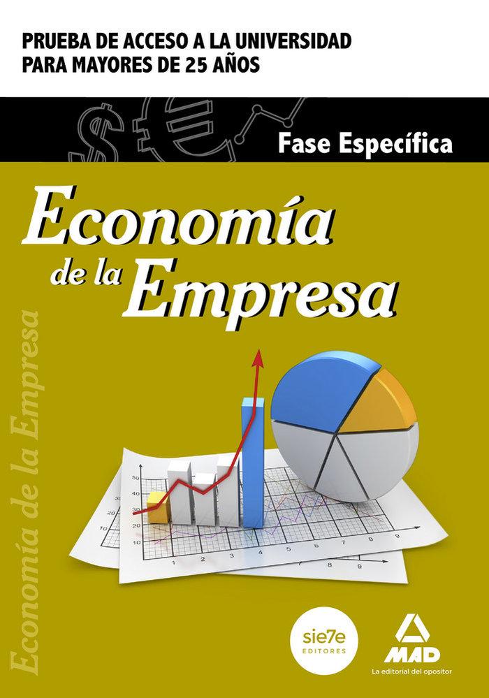 Economia de la empresa. fase especifica. prueba de acceso a