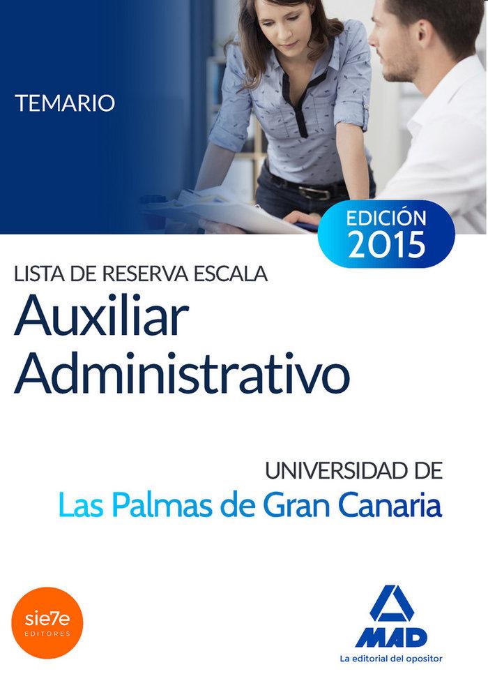 Lista de reserva escala auxiliar administrativo de la univer