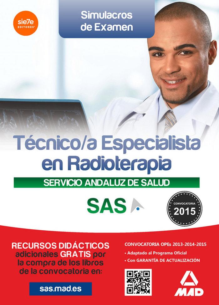 Tecnico/a especialista radioterapia sas simulacros examen