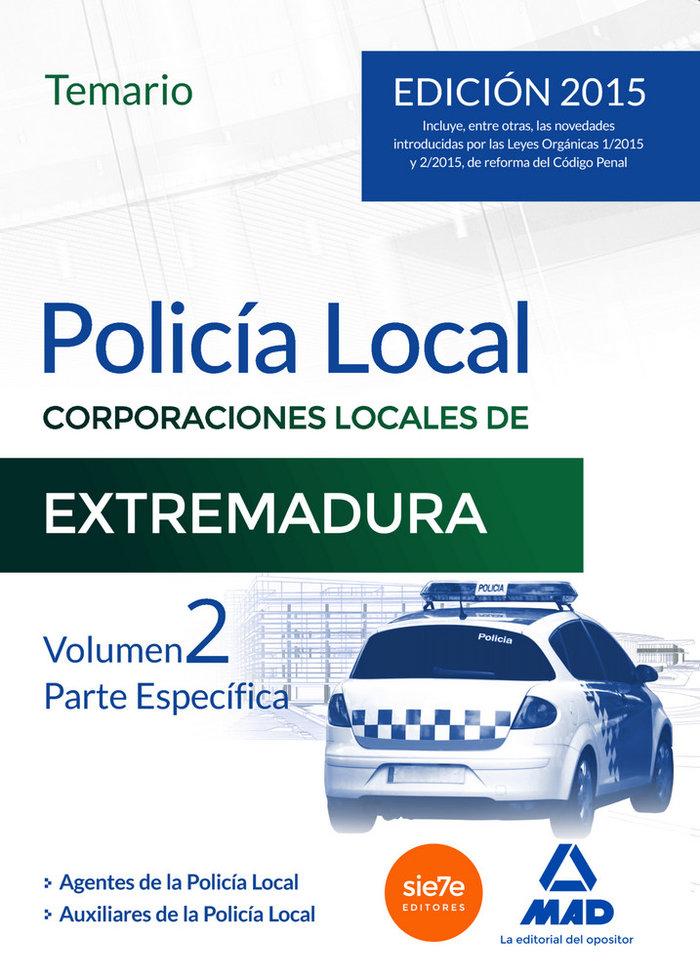 Policia local de extremadura temario volumen 2 parte especi