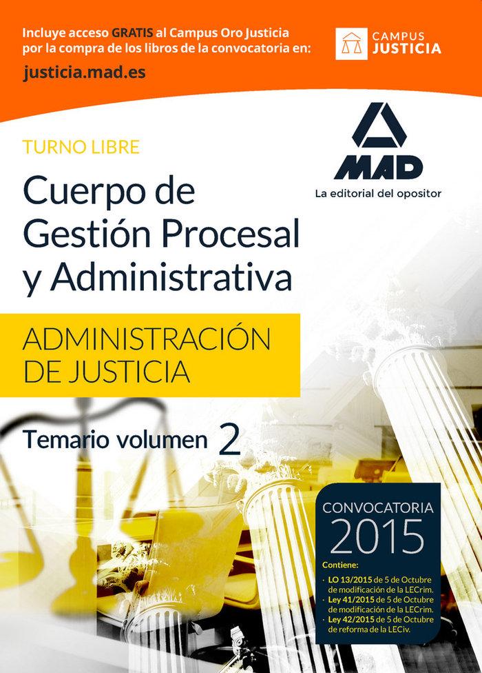Cuerpo gestion procesal y administrativa justicia vol 2 lib