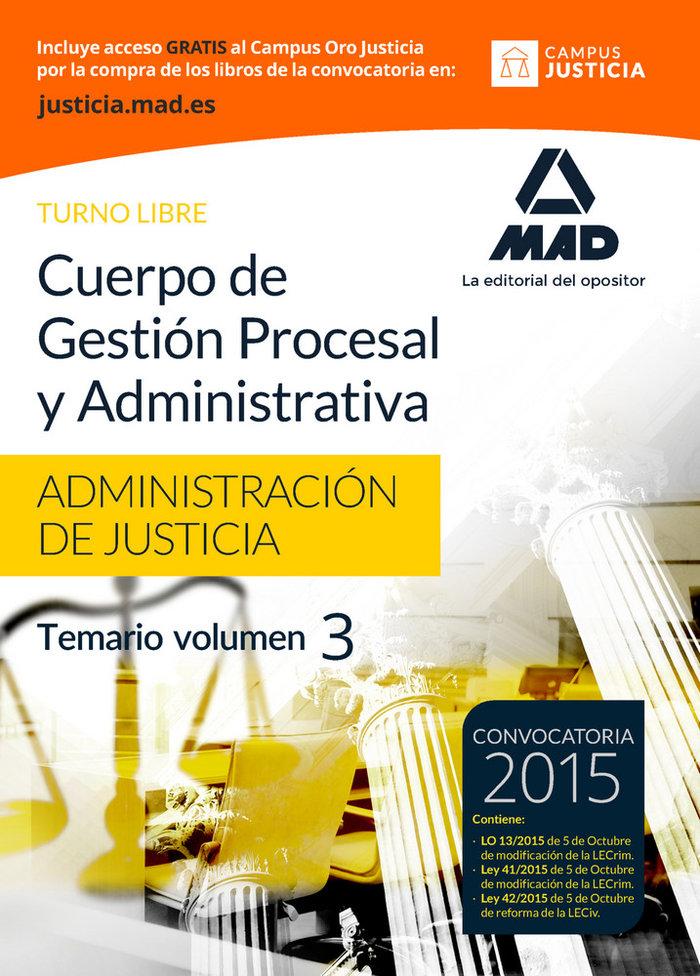 Cuerpo gestion procesal y administrativa libre vol 3