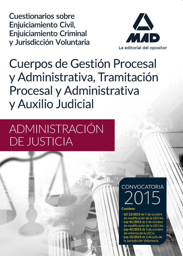 Cuerpos administracion justicia gestion tramitacion y juris
