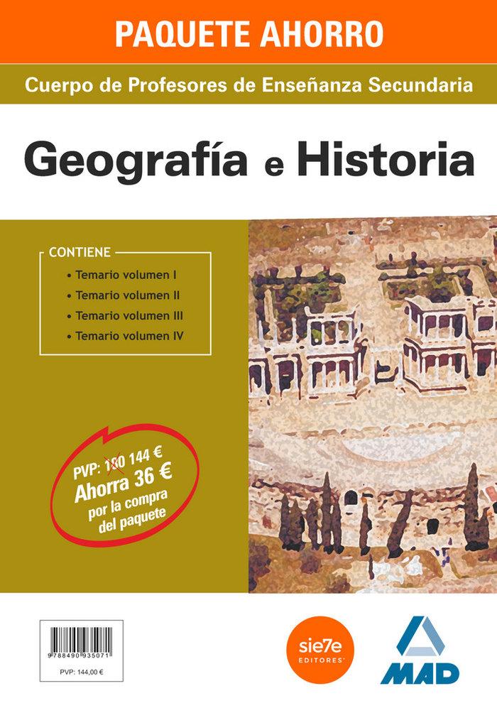 Pack ahorro geografia e historia cuerpo de profesores