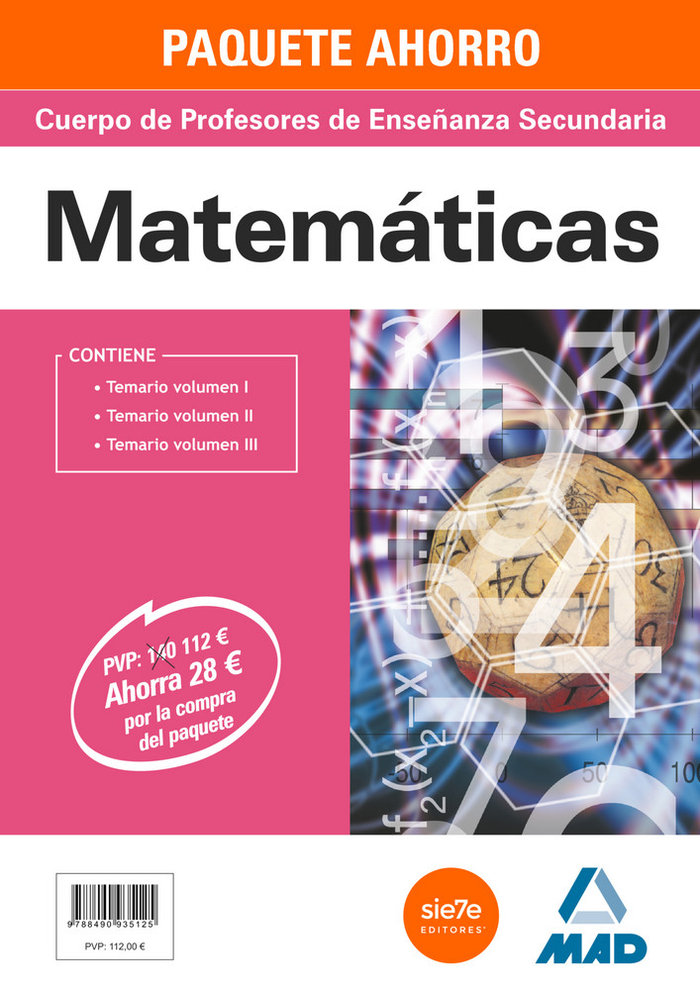 Pack ahorro profesores secundaria matematicas 3 vol