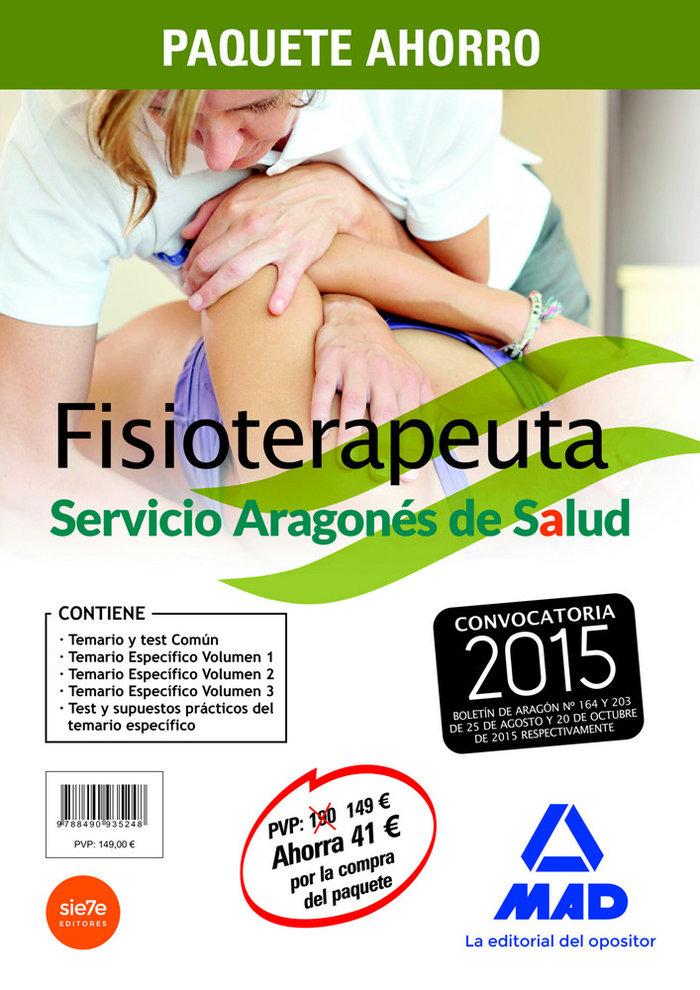 Paquete ahorro fisioterapeutas del servicio aragones de salu
