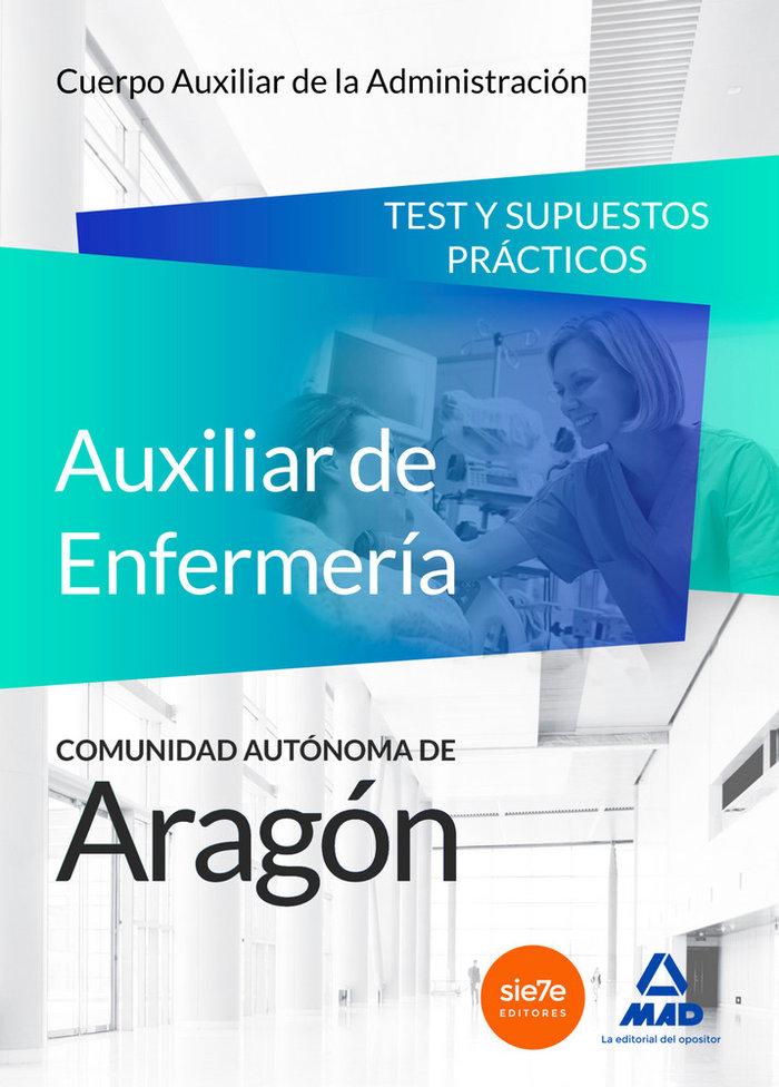Auxiliar enfermeria salud aragon test y supuestos practicos