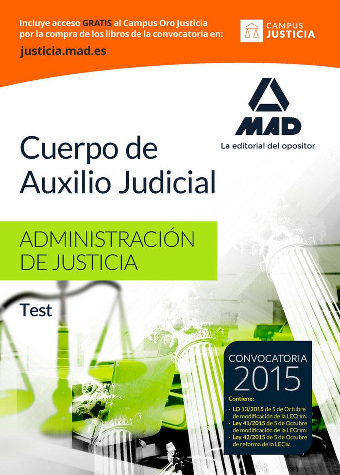 Cuerpo auxilio judicial 2015 test adm.justicia