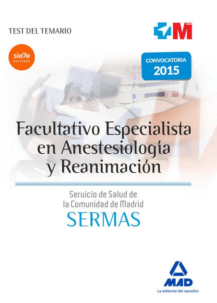 Facultativo especialista en anestesiologia y reanimacion del