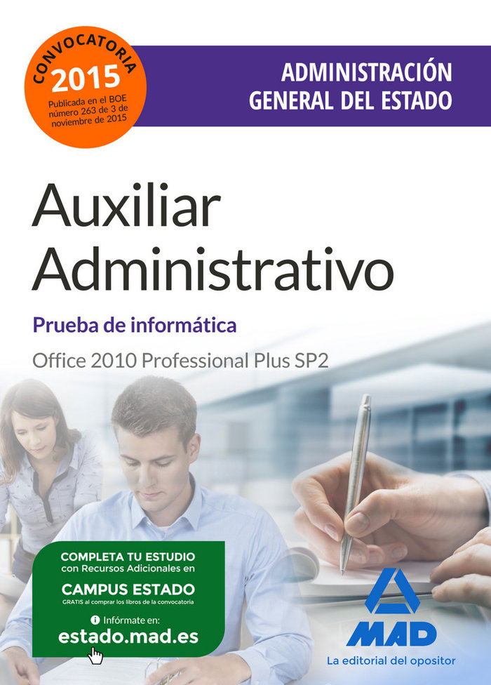 Cuerpo aux.administrac.estado examenes ne word-excel
