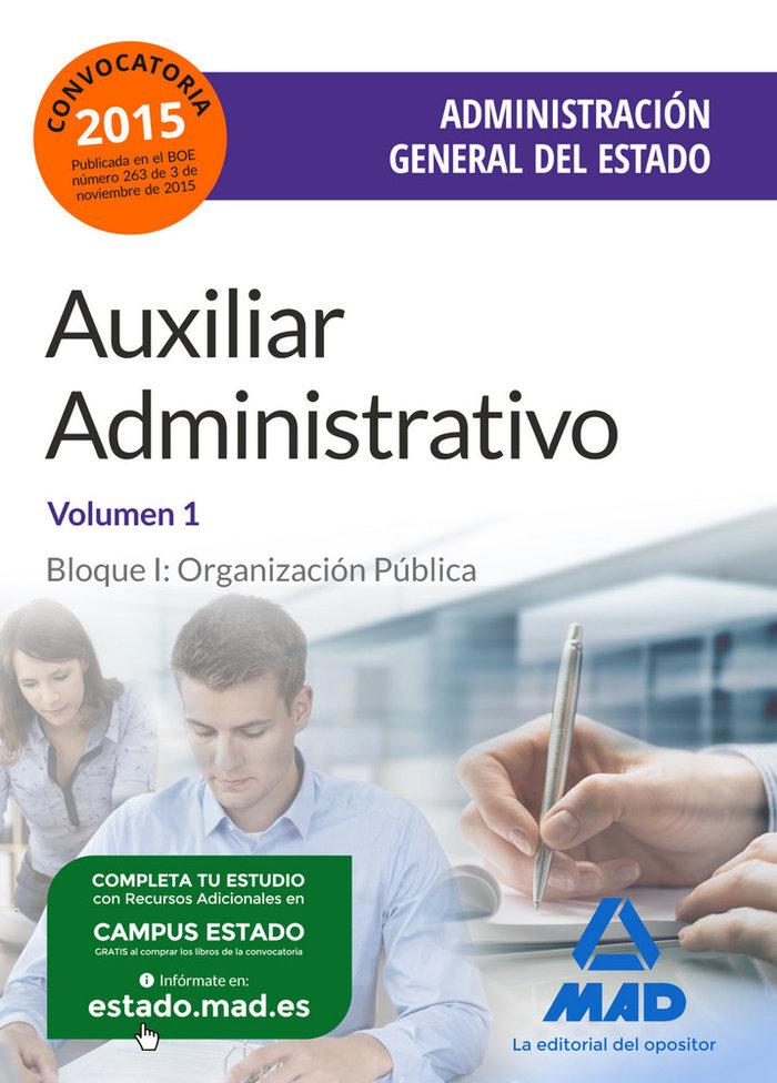 Auxiliar administrativo admon general estado vol i org publ