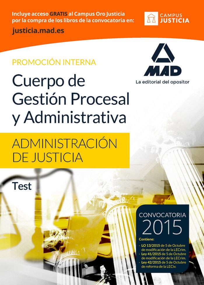 Cuerpo gestion procesal y administrativa administracion tes