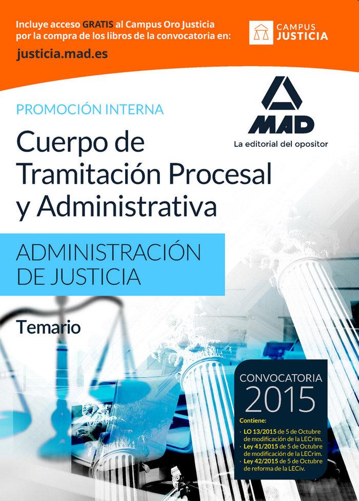 Cuerpo tramitacion procesal y administrativa temario