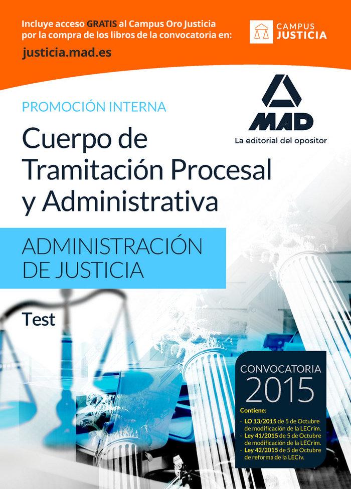 Cuerpo tramitacion procesal y administrativa test