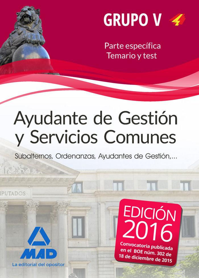 Ayudante gestion y servicios comun personal laboral temario