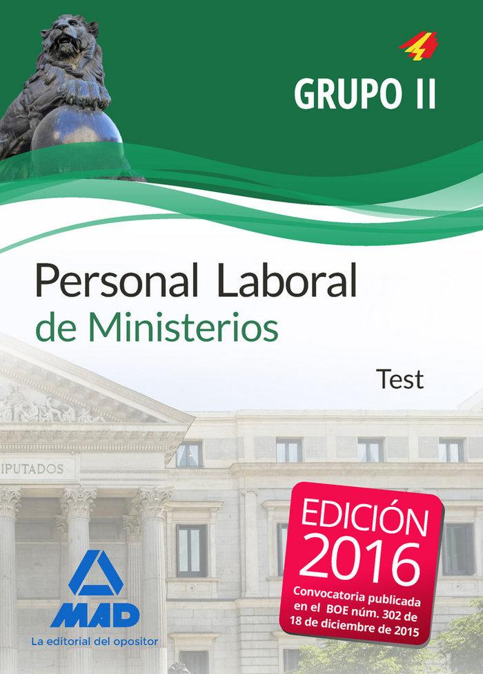 Personal laboral ministerios grupo ii test