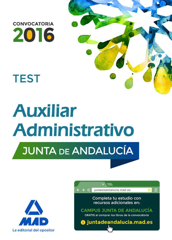 Auxiliares administrativos junta andalucia test