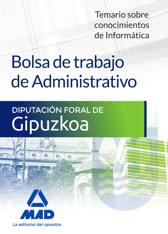Bolsa de trabajo de administrativo de la diputacion foral de