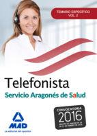 Telefonistas del servicio aragones de salud. temario especif