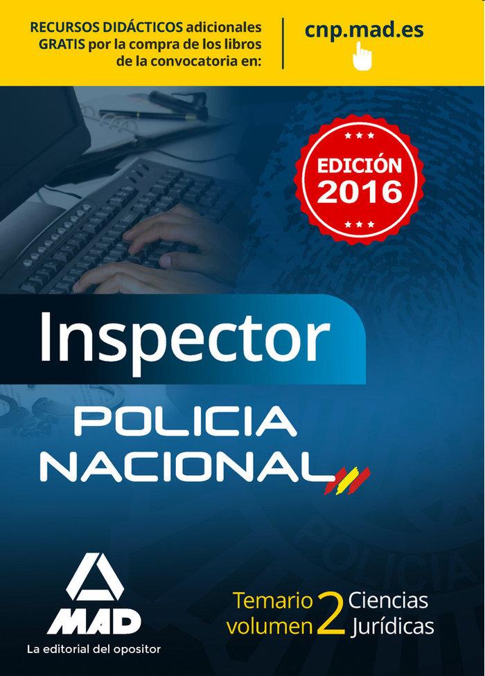 Inspector policia nacional 2016 temario 2 ciencias juridica