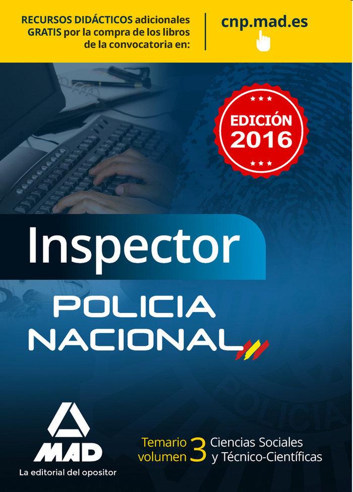Inspector policia nacional 2016 temario 3 ciencias sociales