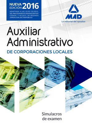 Auxiliar administrativo corporac.locales simulacros examen