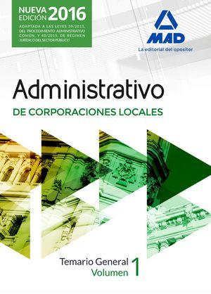 Administrativos corporaciones locales temario i general 16