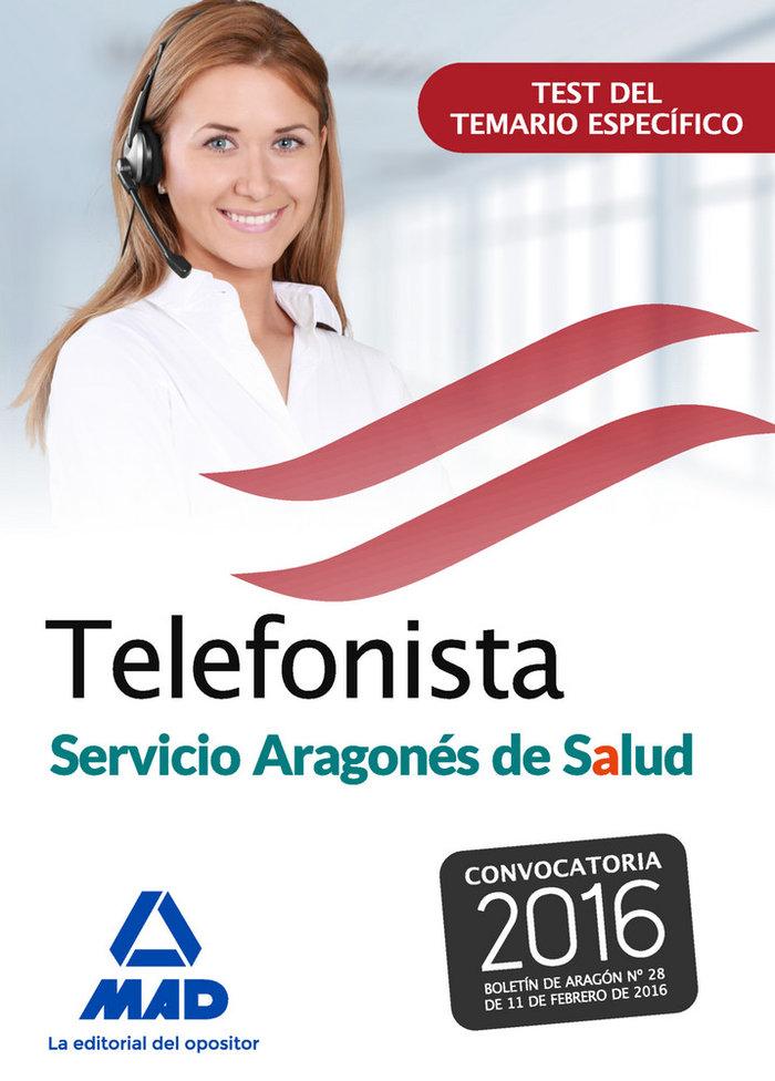 Telefonistas del servicio aragones de salud. test del temari