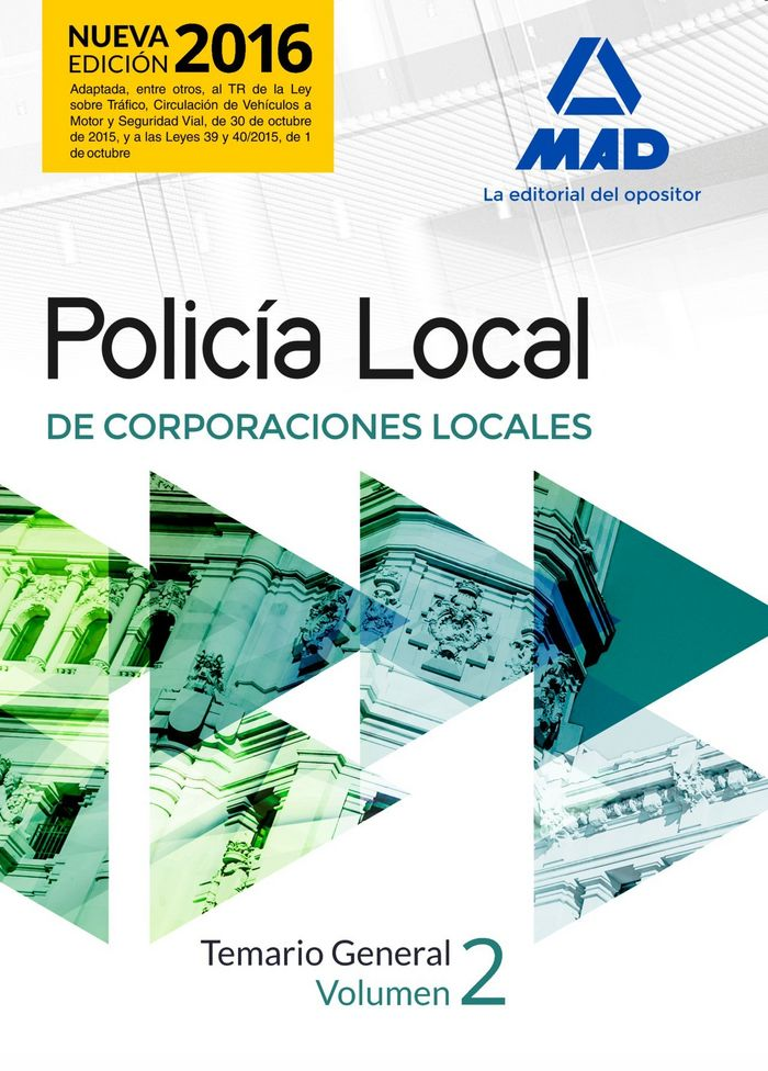 Policia local. temario general volumen 2