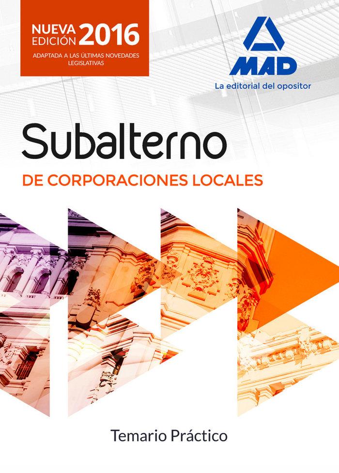 Subalternos corporaciones locales temario practico