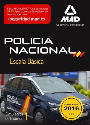 Policia nacional escala basica simulacro examen 1