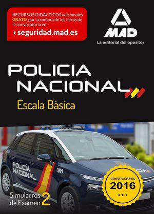 Policia nacional escala basica simulacro examen 2