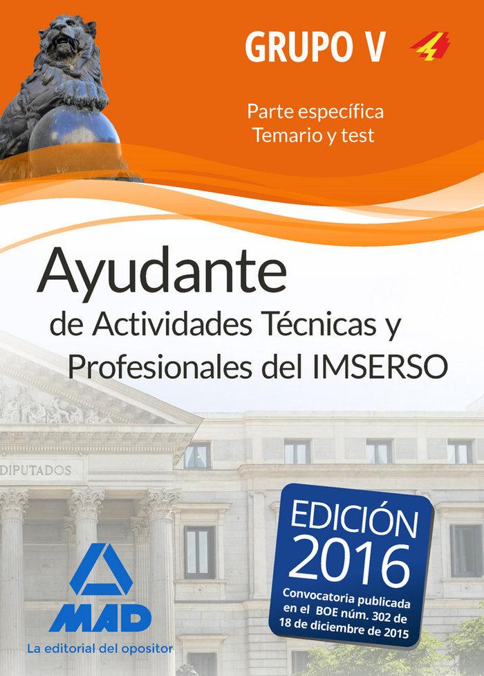 Ayudantes de actividades tecnicas y profesionales del imsers