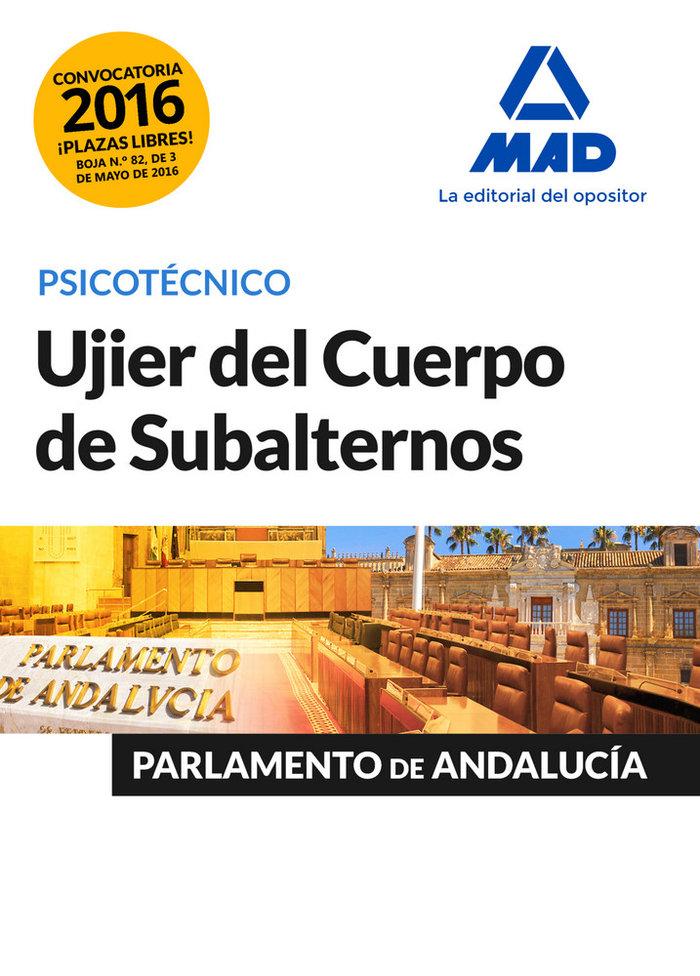 Ujier parlamento andalucia psicotecnico 2016
