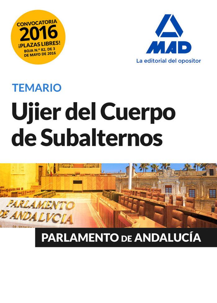 Ujier cuerpo subalternos parlamento de andalucia temario