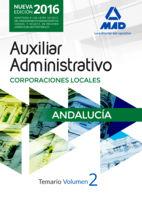 Auxiliar administrativo corporacion local andalucia vol 2