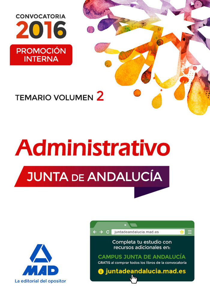 Administrativo vol 2 promocion interna junta andalucia 2016