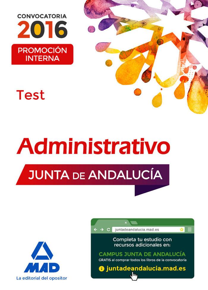 Administrativo promocion interna test junta de andalucia