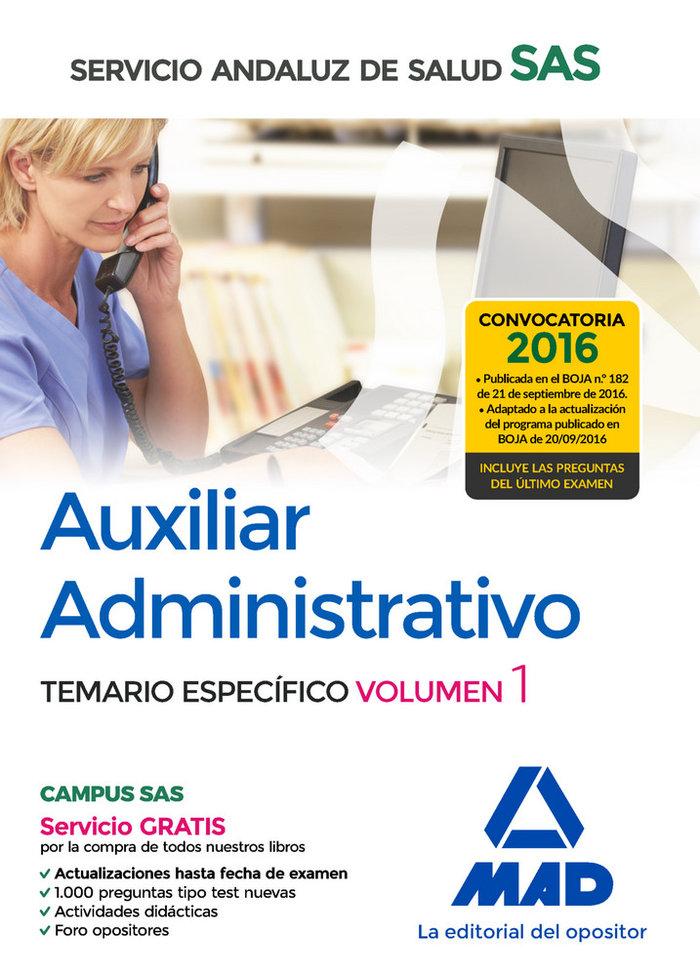 Auxiliar administrativo servicio andaluz salud vol 1